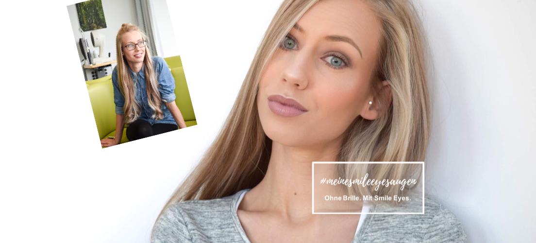 Beauty Bloggerin Eva Leipziger vor und nach dem Augenlasern