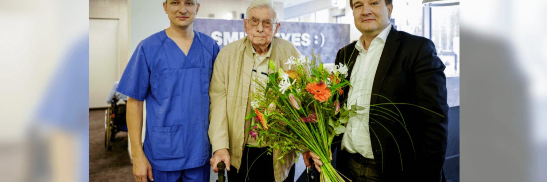 Smile Eyes gratuliert dem Hundertjährigen
