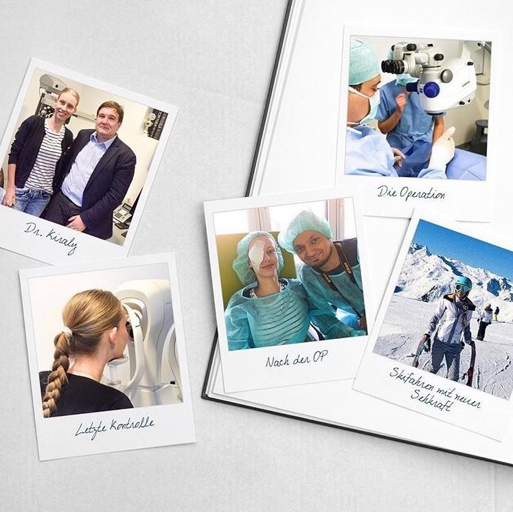 Eva Leipzigers dokumentiert ihre Augenkorrektur