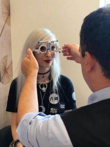 Kimis Augen beim Check-up