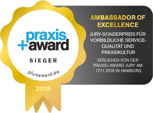 Sonderauszeichnung PraxisPlusAward Sieger