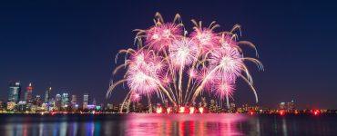Silvester mit großem Feuerwerk