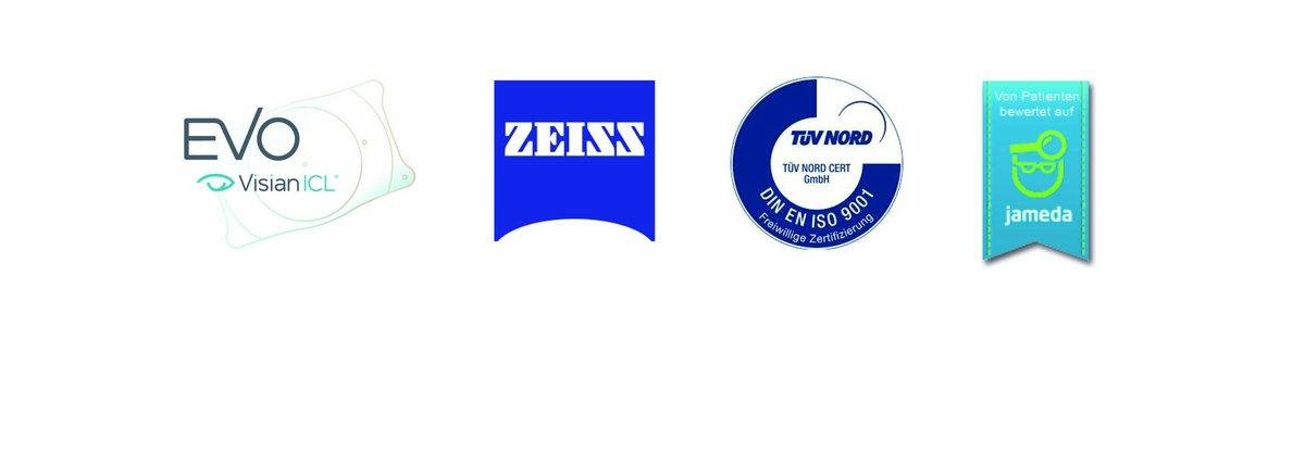 Zertifizierungen aus Rostock: Visian, Zeiss, TÜV, Jameda