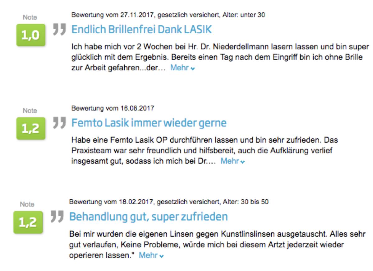 Jameda Bewertungen Augsburg Dr. Niederdellmann