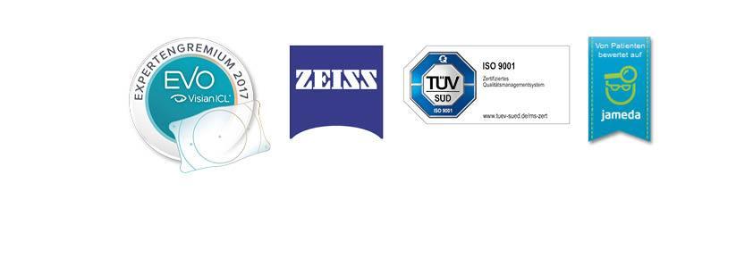 Zertifizierungen aus Leipzig: Visian, Zeiss, TÜV, Jameda
