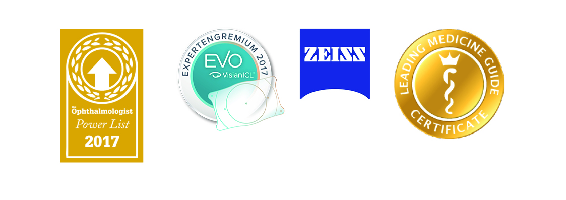 Zertifizierungen für Linz von Zeiss, Visian, Opthalmologist, Leading Medicine