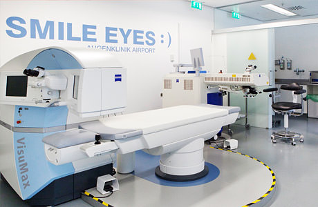 Operationsraum der Smile Eyes Augenklinik Airport in München