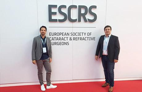 Dr. Martin Bechmann und Dr. Laszlo Kiraly beim ESCRS Kongress