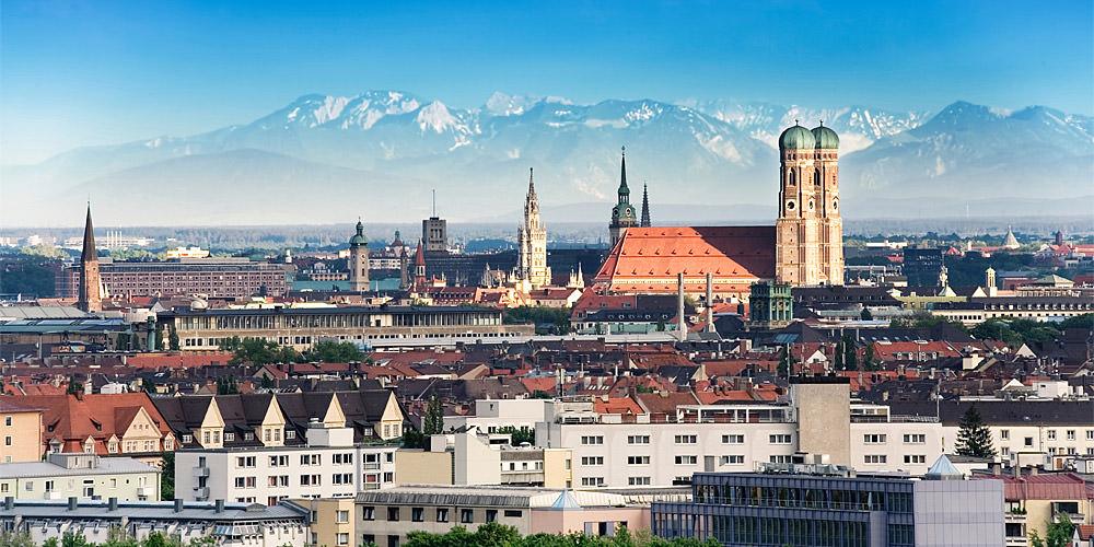Blick auf München ohne Grauer Star