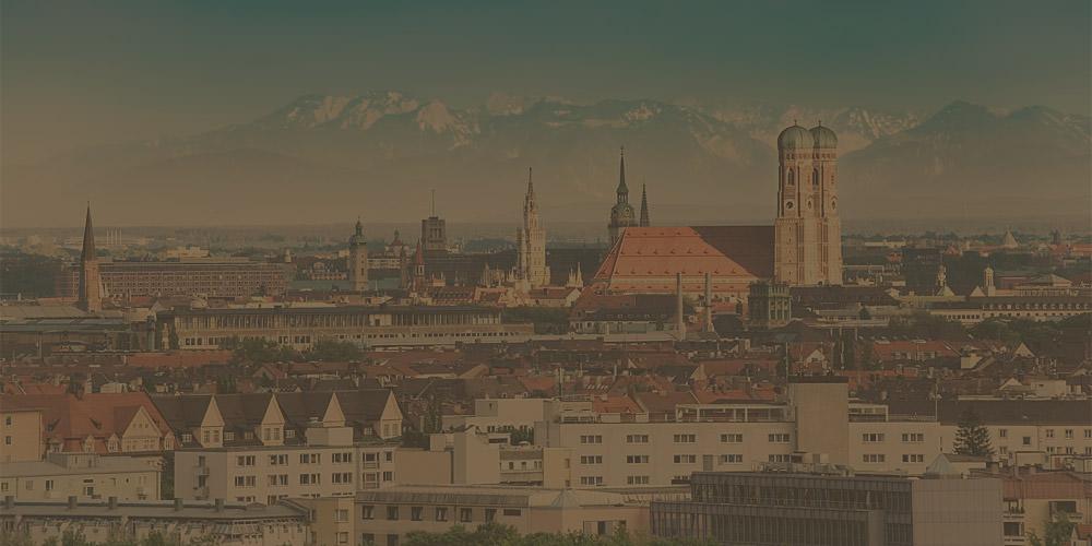 Blick auf München mit Grauer Star